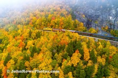Conway Scenic Rail Road in Crawford Notch, NH In To The Trees
