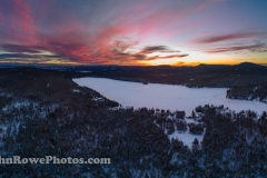 Newark Pond Sunset Panorama 1/9/21