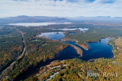 Aerial view of Ossipee Lake, NH