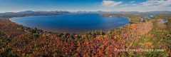 Ossipee Lake From Behind Long Sands Panorama