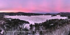 Island Pond Sunrise Panorama 12/30/20