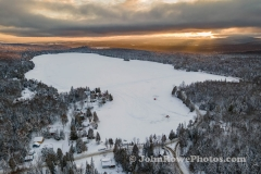 Newark Pond Winter Sunset 1/4/21