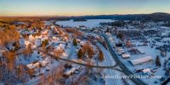 Late Day Sun on Island Pond Panorama 2/12/21