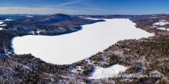 Lake Seymour Vermont Winter Panorama
