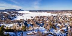 Newport, Vermont Winter Panorama