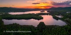 Spectacle Pond  & Island Pond Sunset Panorama