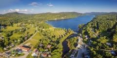 Crystal Lake - Barton Vermont Panorama