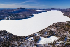 Lake Seymour Vermont Winter Panorama