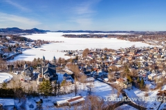 Newport, Vermont Winter Panorama