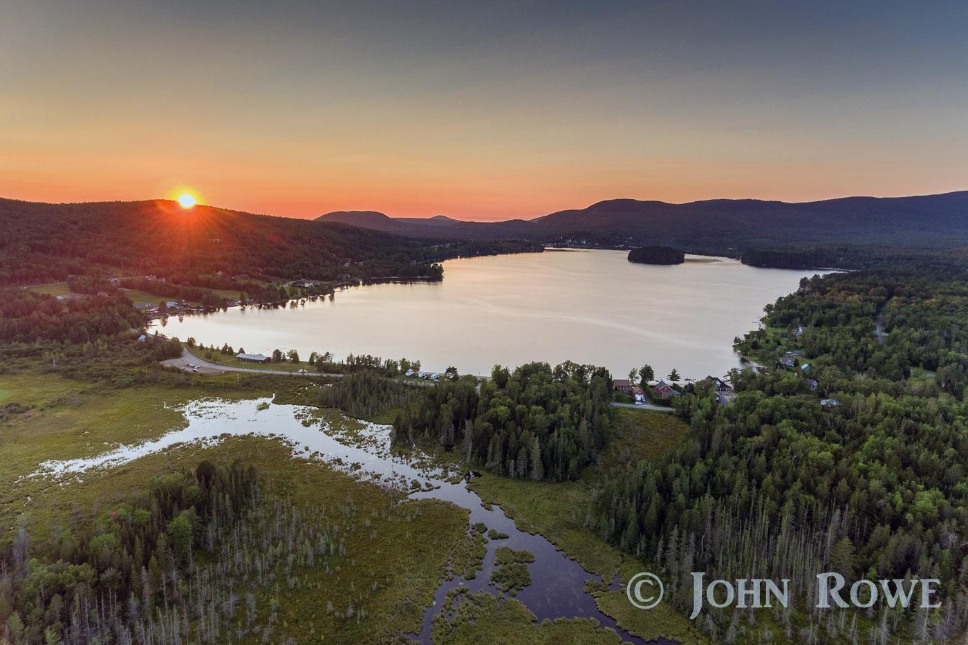 island pond, vt sunset