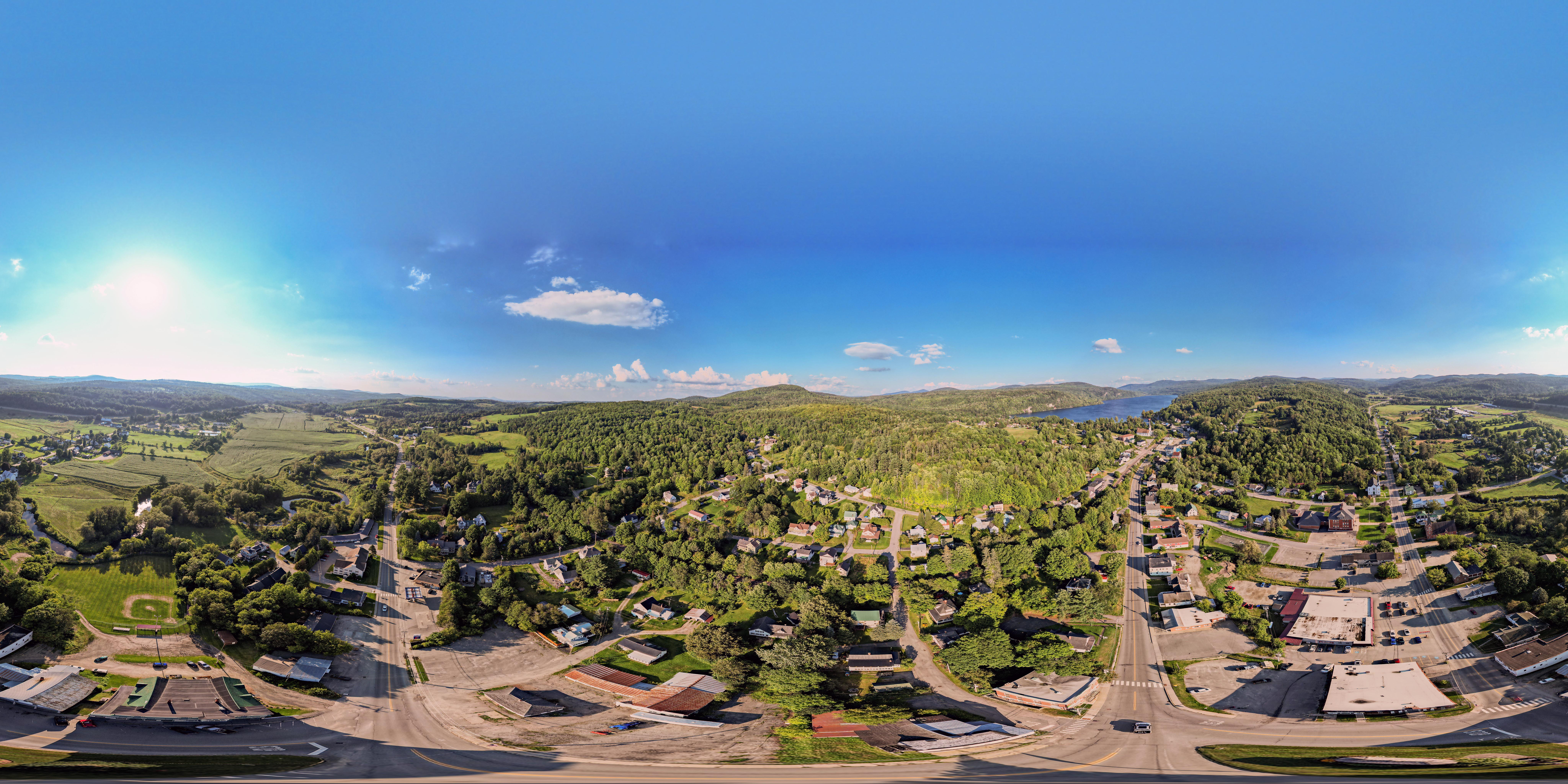 360 degree view from above barton vermont